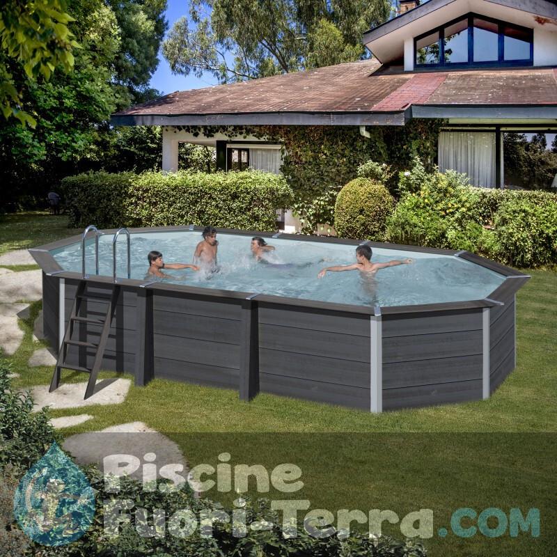 Piscina StarPool In Finta Grafite 460x132 PR458GF