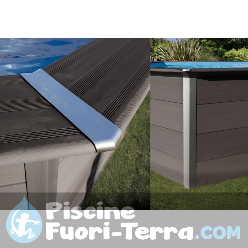 Piscina StarPool In Finta Grafite 610x375x132 PROV618GF