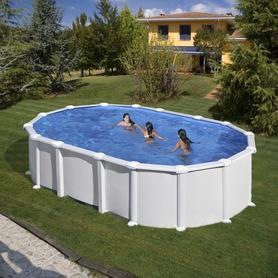 Scaletta Inossidabile per piscina in legno Gre 126673
