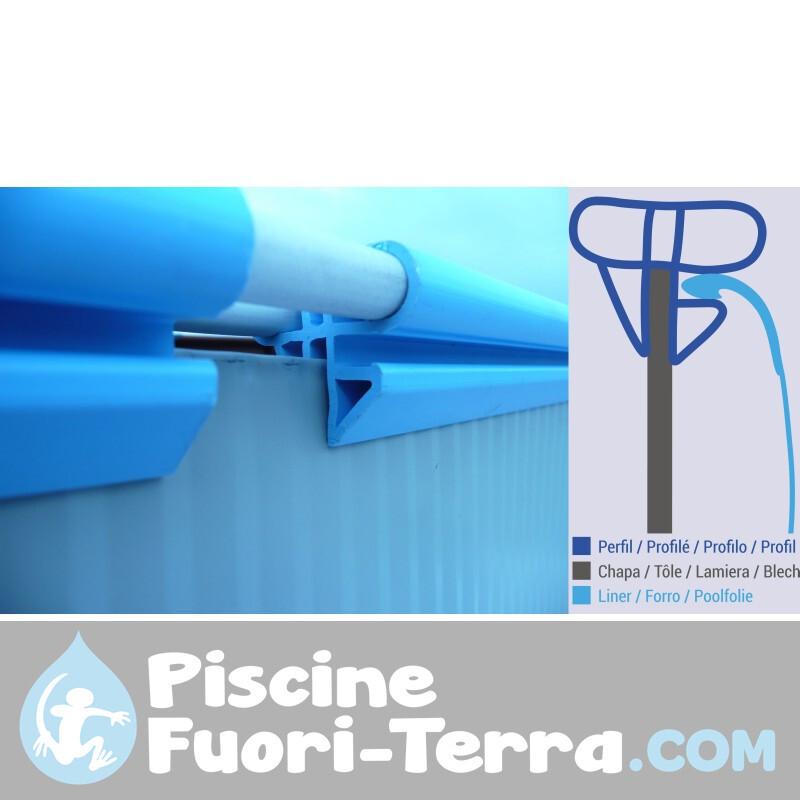 Aspetto Legno Rotonda 38 l PVC Scuro Gre AR1035