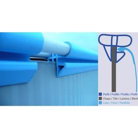 Doccia Solare Rotonda 20 l PVC in Simil Legno Gre AR1020W