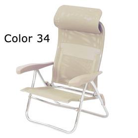 Letto rinforzato con poggiabraccia e schienale 7 posizioni in alluminio