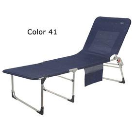 Sedia a braccioli Air Deluxe alluminio con 7 posizioni e sedile lungo