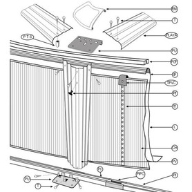 Piscina Gre Java 610x375x120 KIT610NRT